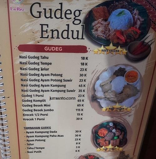 daftar harga dan menu larise cafe lampung 9