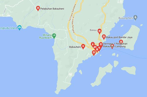 lokasi pelabuhan bakauheni lampung terletak dimana