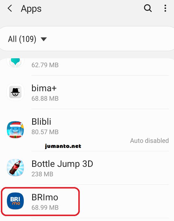 berikan akses permission ke aplikasi brimo terbaru