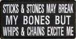 Sticks And Stones Biker Patch