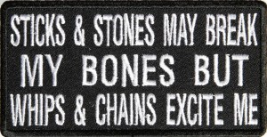 Sticks And Stones Biker Patch