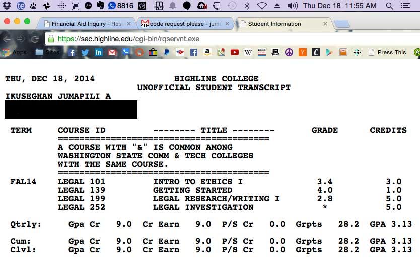 Transcript As of Dec 18, 2014 around noon