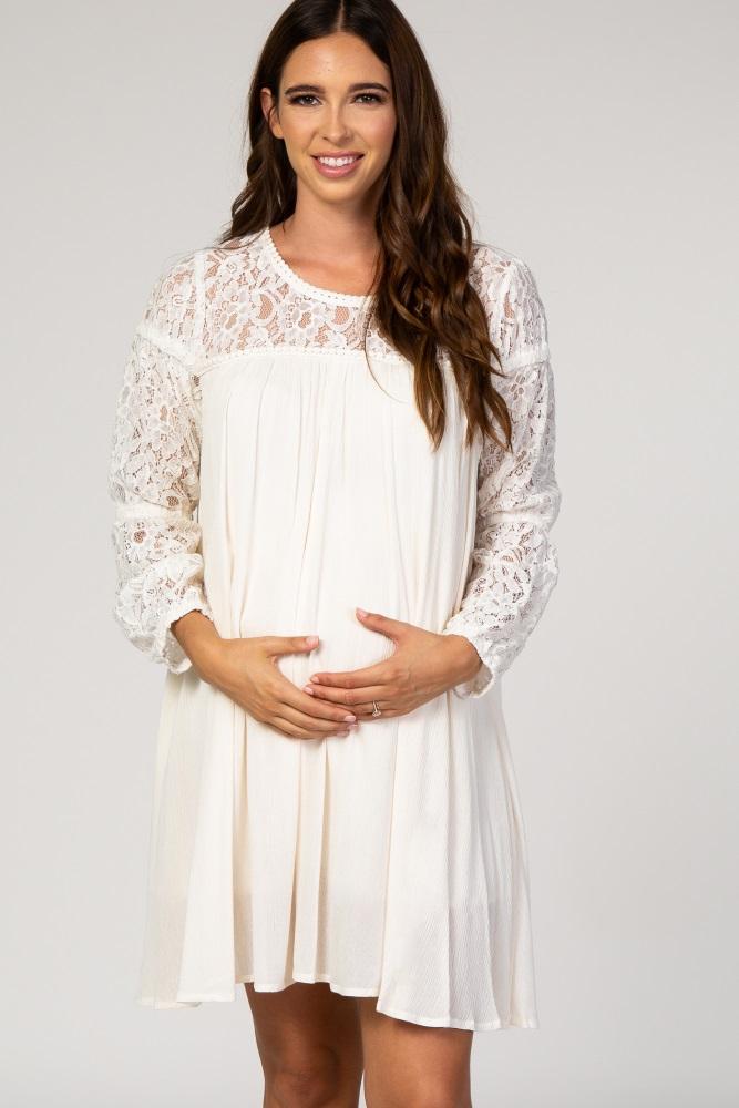 White Maternity Dress For Baby Shower