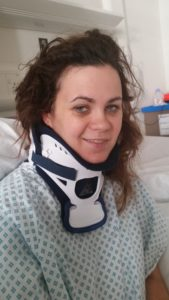 I look quite happy for someone who had been in a serious car accident, but not very fresh faced.