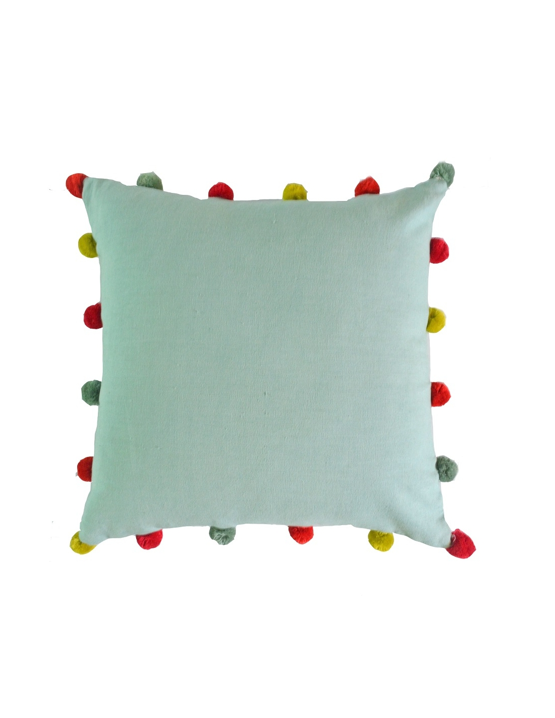 solid pom poms cushion cover