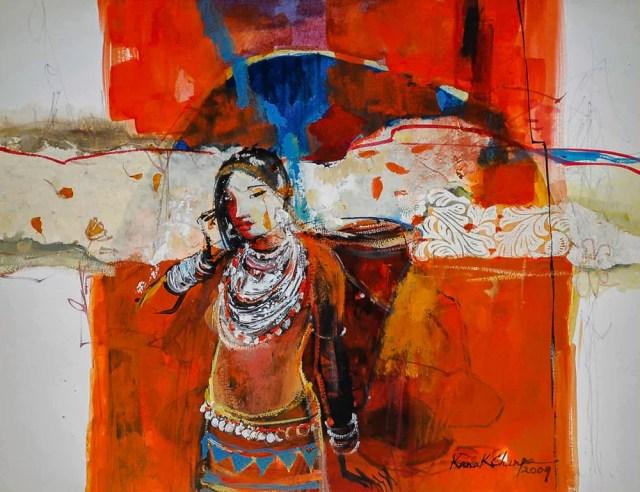 Portrait of a Jumma woman by Kanak Chanpa Chakma