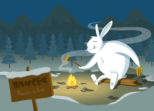 JRD 404 Page - Snow Monster concept