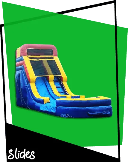 Blow up water slide