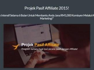 Projek Affiliate Pasif