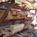 Alles, was so benötigt wird - vor allem jede Menge hochwertiges und langlebiges Holz