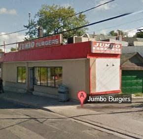 jumbo burger facing north