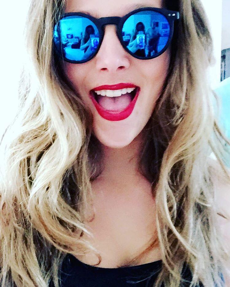 ronde zonnebril blauwe glazen