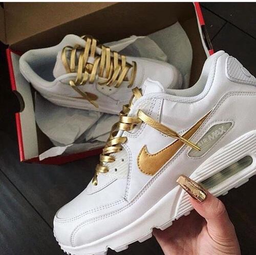 airmaxjes wit met goud