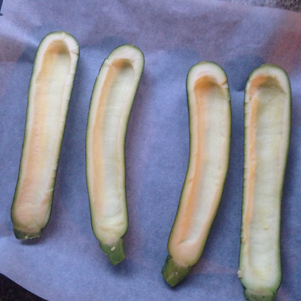 uitgeholde courgette