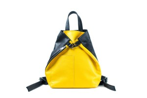 Black and yellow backpack with zipper and carabine by June9