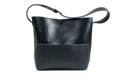Black leather bag by JUNE9