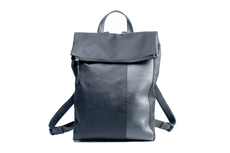 Large canvas & leather backpack by June9