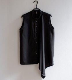 Black asymmetric blouse by June9concept