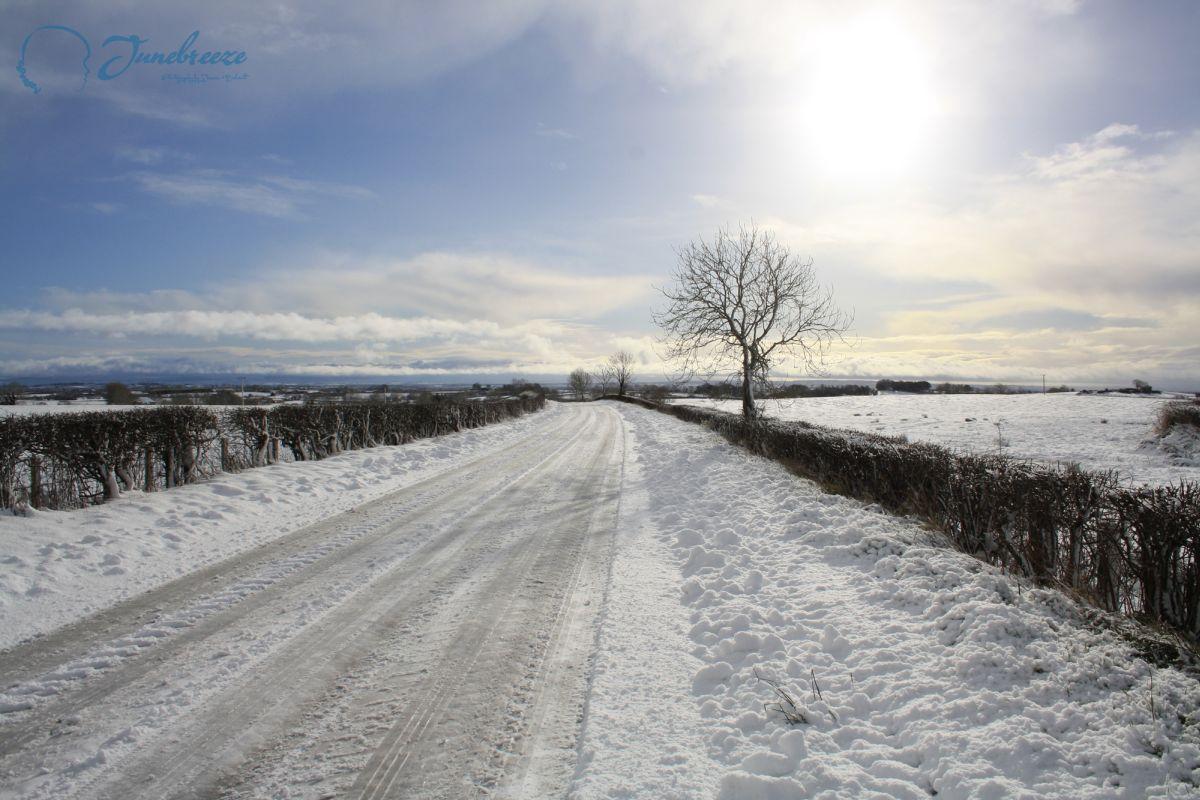 Snow in Coleraine, North Ireland