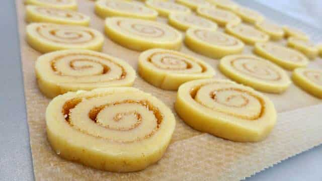 This sweet treat is really easy to make! Sugary cinnamon swirl cookies, a great bite for your afternoon cup of coffee or tea...