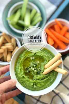 Simple Zucchini Dip with Crunchy Vegetables