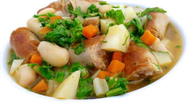 A chunky white bean and sausage soup recipe with fresh celeriac, now that's what I would call a hearty and wholesome meal!