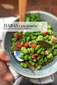 Are you a huge fan of broad beans? Then do try these popular habas con jamon, a classic Spanish bean side salad with ham...