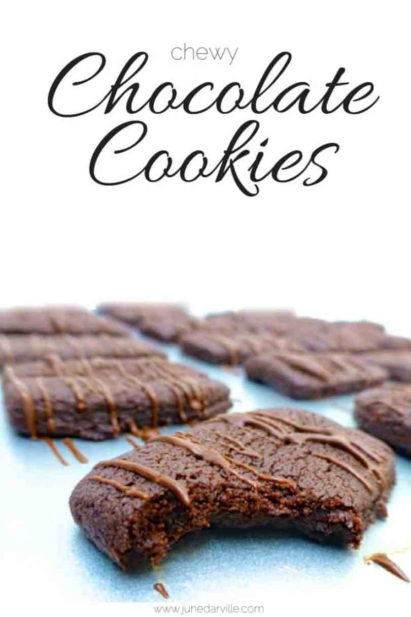 My delicious chewy chocolate cookies: irresistible soft chocolate goodies... And what a great homemade yummy gift idea as well!