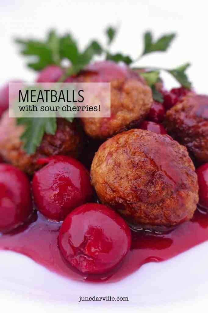 Belgian meatballs with sour cherries: this is an example of classic Belgian cuisine! Sweet, sour and savory all in one dish...