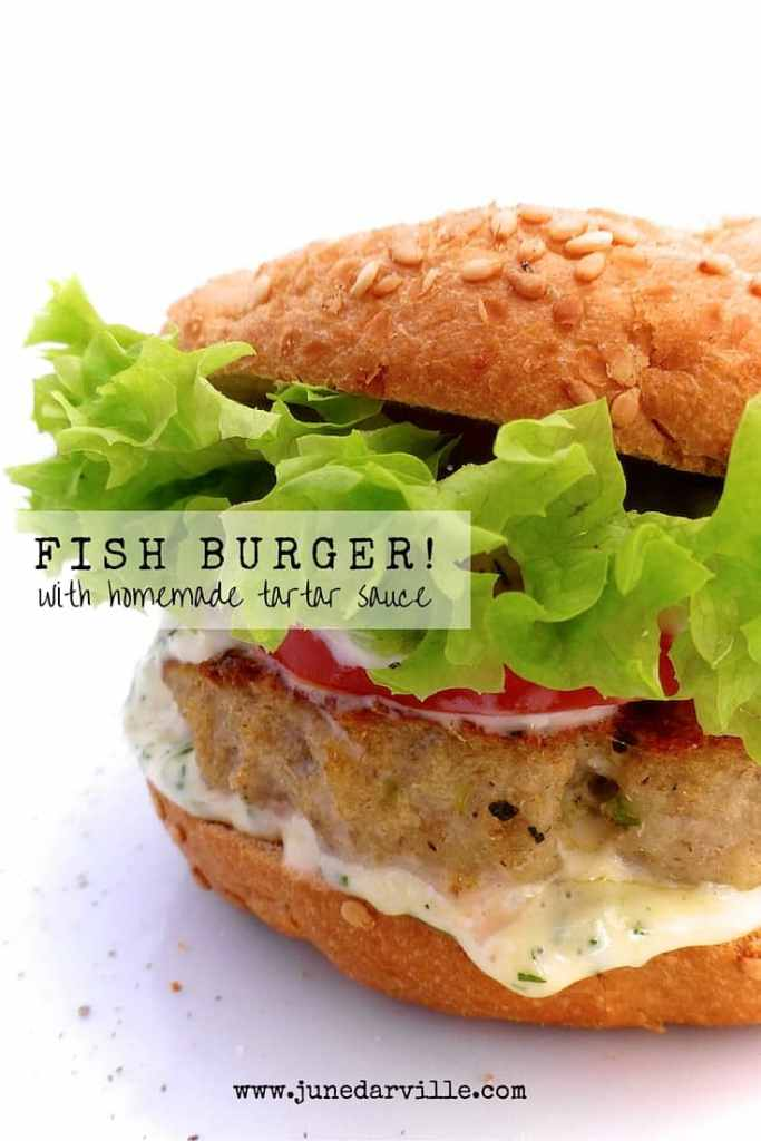 100% homemade and extremely delicious: my juicy white fish burgers with a chunky homemade creamy tartar sauce... Awesome burger!
