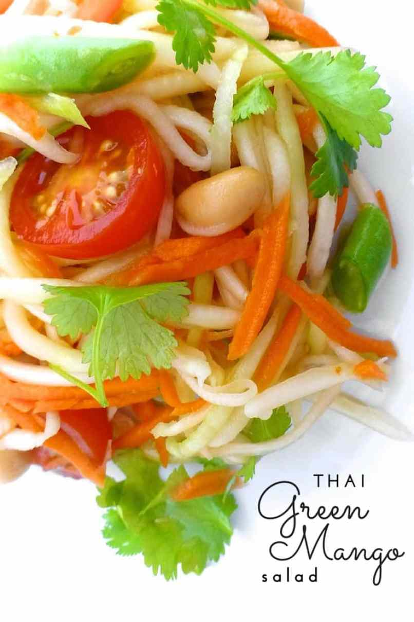 Here's one of my most favorite Asian summer salads: a refreshing Thai green mango salad! Packed with flavor and crunchy vegetables...