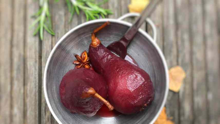 Poached pears in red wine... An easy make ahead summer dessert but also the ultimate Thanksgiving treat. Tastes great all year round!