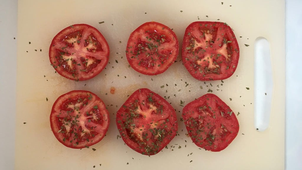 Vegetable dishes are so much fun to prepare. Look at these slow roasted tomatoes: how pure and deeply flavored are these bright red gems?