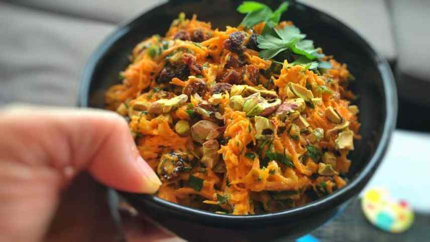 So fresh and creamy... how sweet and crunchy! This zesty colorful ginger and carrot slaw recipe is an all time family favorite!