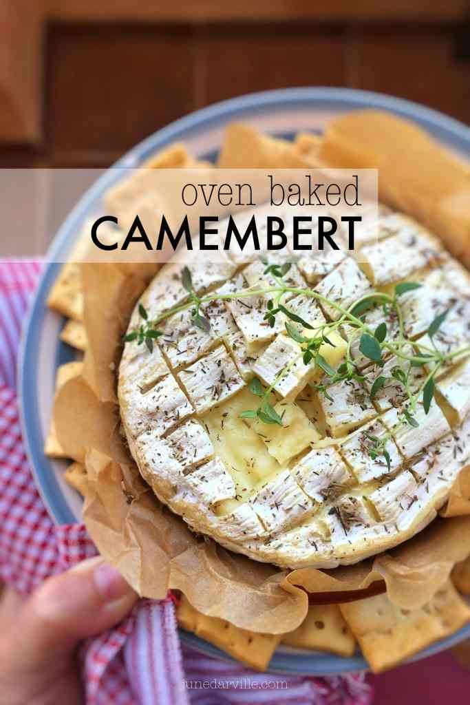 This baked camembert is a classic appetizer, or serve it for lunch with some freshly grilled French bread! I can't get enough of this gooey stuff...