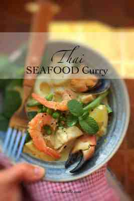 Easy Thai Green Curry with Seafood