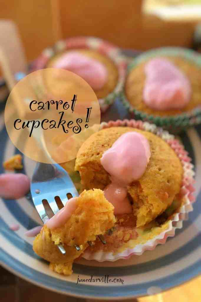 Looking for a simple dessert? Then try this very easy cute carrot cupcakes recipe! If you like carrot cake, you will adore these cupcakes!