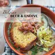 Best Endive Soup with Belgian Beer & Cheese