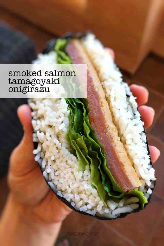 A Japanese rice and nori sandwich also known as onigirazu... Here's one of my favorites: my smoked salmon onigirazu recipe!