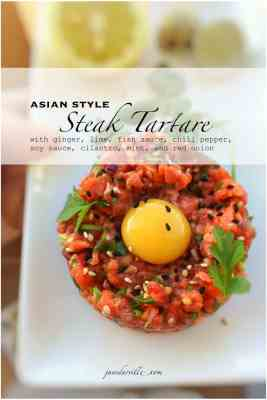 Easy Asian Style Steak Tartare Recipe