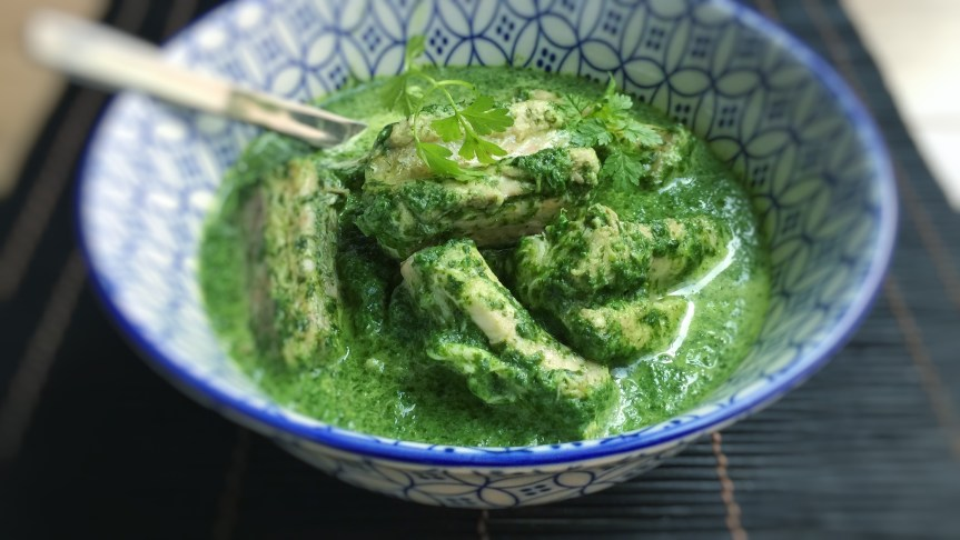Eels in green sauce, this is a Belgian classic! Paling in 't groen, the herb sauce contains fresh parsley, mint, oregano and chervil!