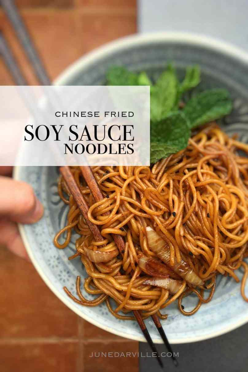 Easiest noodle recipe ever: stir fried Chinese soy sauce noodles with onion! A great recipe I took home after visiting Hong Kong...