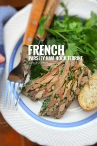 Making a meat terrine from scratch? Here is a French classic: this parsley ham hock terrine, aka jambon persillé, head cheese or brawn!