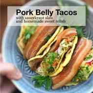 Easy Beer Pork Belly Tacos with Sauerkraut