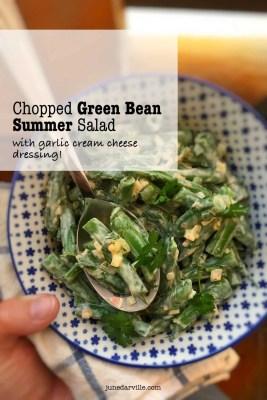 Easy Green Bean Salad & Cream Cheese Dressing