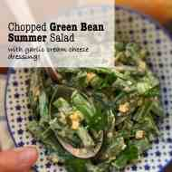 Easy Green Bean Salad & Cream Cheese Dressing
