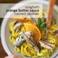 Easy Canned Sardines Recipe with Orange Spaghetti