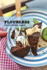 My famous flourless chocolate cake recipe... the easiest make ahead chocolate cake ever! Fail proof and it's gluten free too!