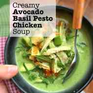 Easy Pesto Chicken Soup with Avocado