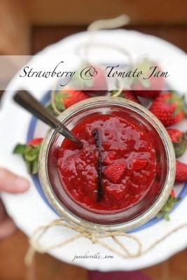 Easy Vanilla & Strawberry Tomato Jam